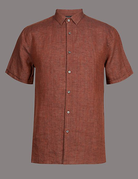 Luxury Pure Linen Slim Fit Shirt
