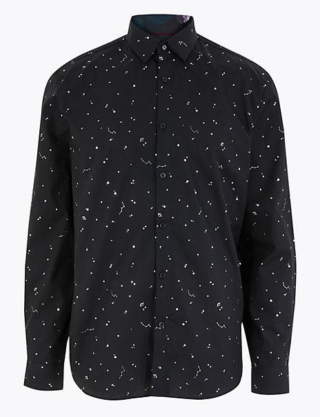 Pure Cotton Star Print Shirt