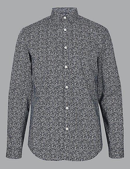 Pure Cotton Slim Fit Printed Shirt