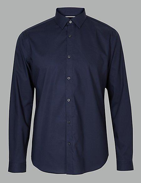 Slim Fit Cotton Rich Shirt