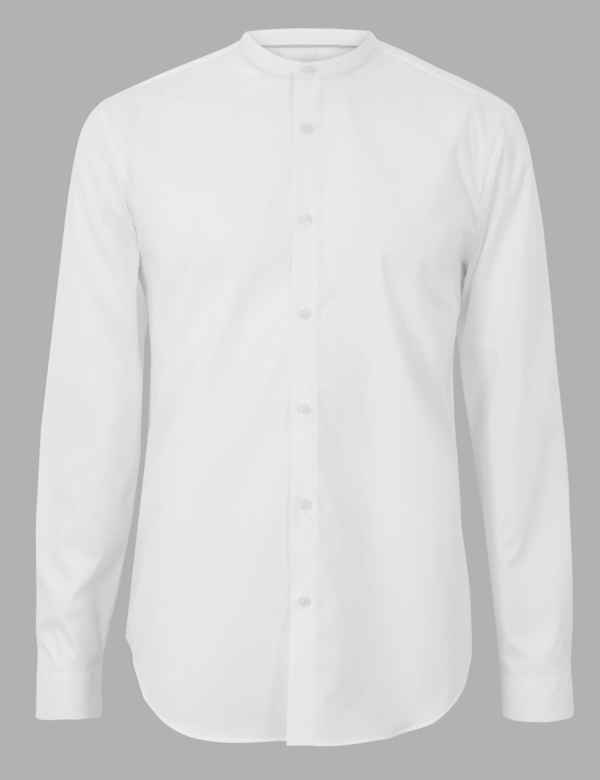 6739edaad12 Cotton Rich Shirt with Stretch