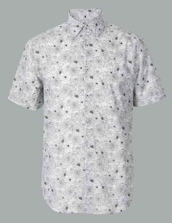 bf3cf231c Short Sleeve Shirts for Men| M&S
