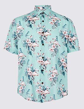 Cotton Rich Floral Printed Shirt