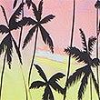 Camisa de algodón con estampado de palmeras, MULTICOLOR, swatch