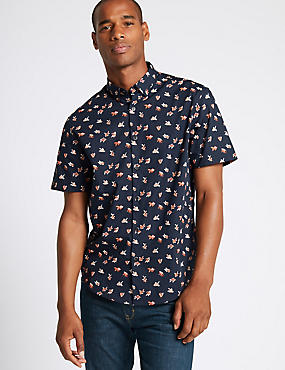 Pure Cotton Fish Print Shirt