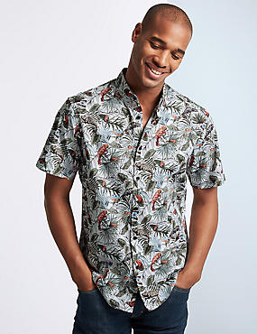 Pure Cotton Printed Shirt