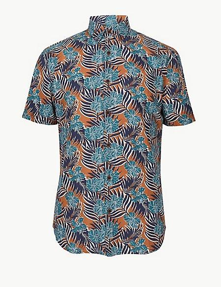 Cotton Rich Printed Shirt