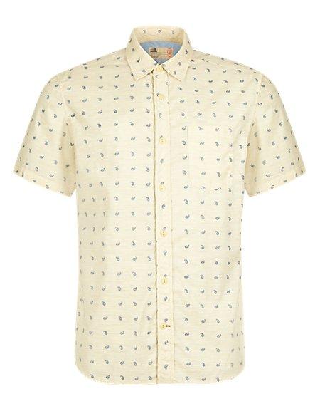 Pure Cotton Paisley Print Shirt