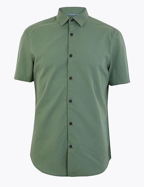 Pure Cotton Polka Dot Shirt