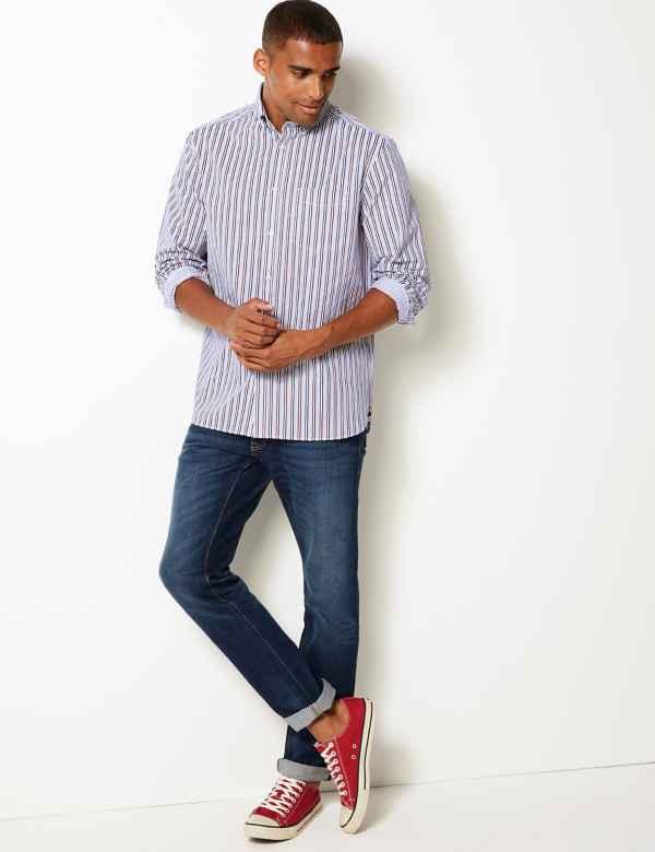 Mens Casual Shirts   Long & Short Sleeve Shirts   M&S IE
