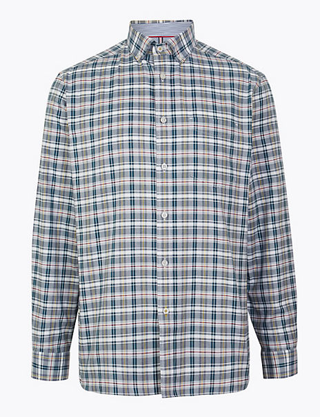 Cotton Oxford Checked Relaxed Fit Shirt