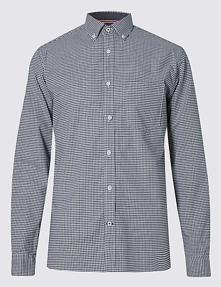 Cotton Rich Gingham Checked Shirt