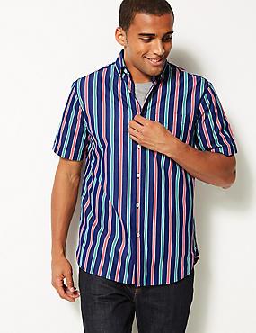 Proužkovaná košile ze 100% bavlny ... 8301b7288e