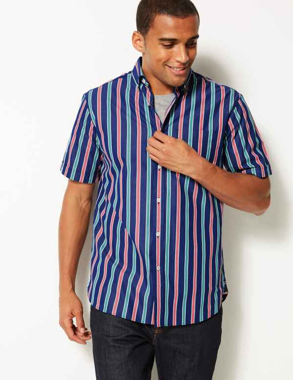 e6ca322698f Pure Cotton Striped Shirt