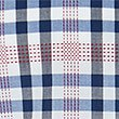 Pure Cotton Checked Shirt, BLUE MIX, swatch