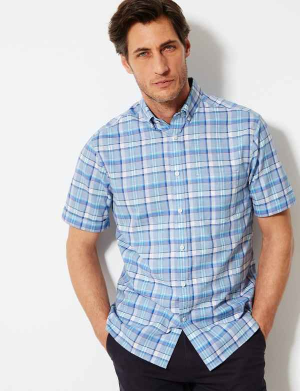 5d3d8420f Pure Cotton Checked Shirt