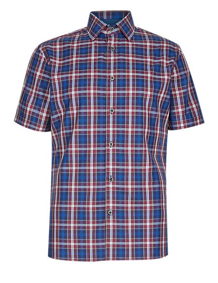 Pure Cotton Tailored Fit Classic Checked Shirt