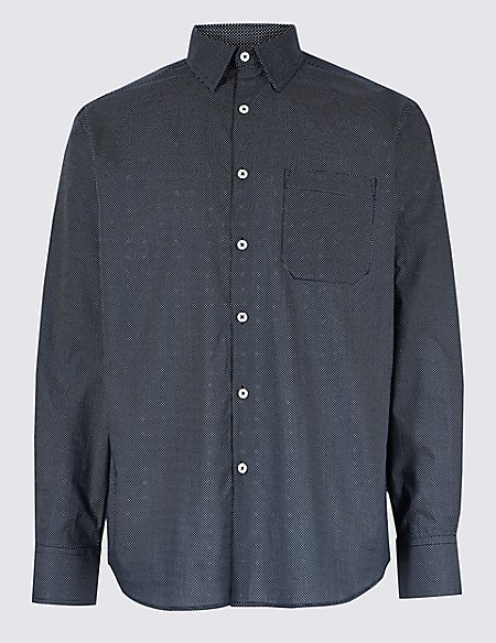 Pure Cotton Regular Fit Luxury Shirt