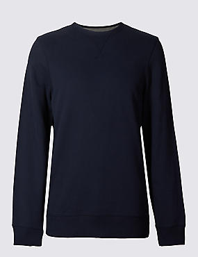 Cotton Rich Crew Neck Regular Fit Sweat
