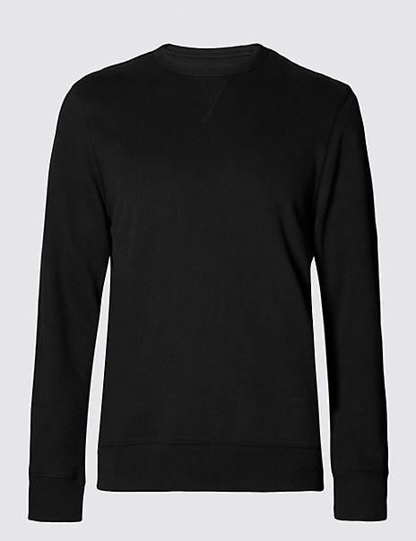 Cotton Rich Crew Neck Sweatshirt