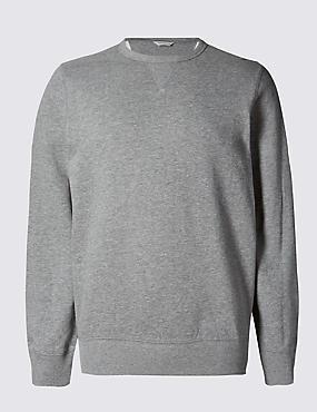 Big & Tall Pure Cotton Crew Neck Sweatshirt
