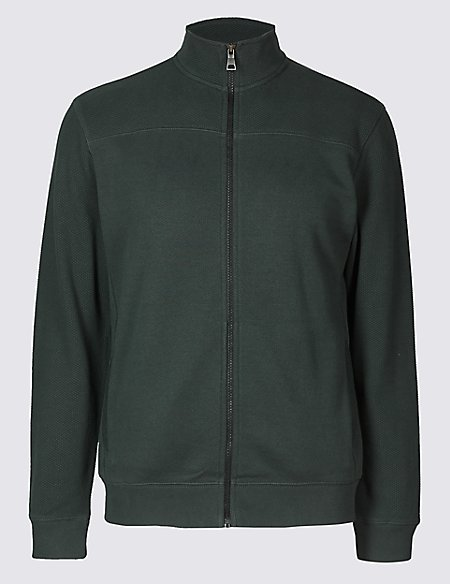 Cotton Funnel Neck Regular Fit Jacket