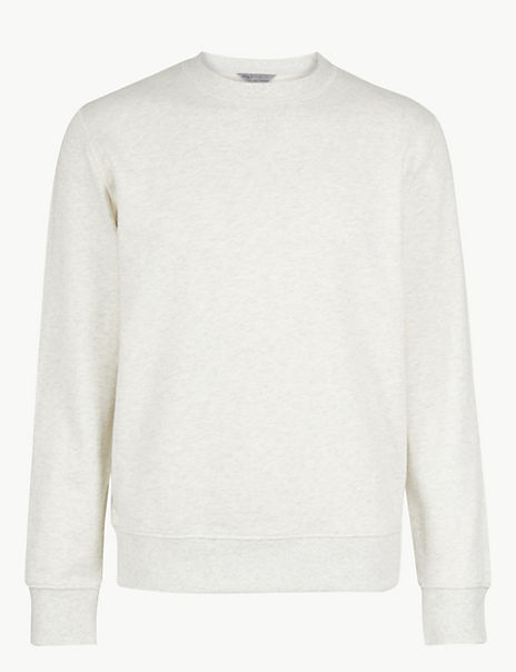 Pure Cotton Crew Neck Sweatshirt