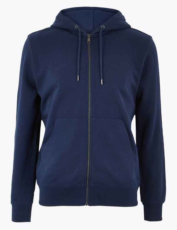 2154b7cec Mens Zip Hoodies | Sweatshirts For Men | M&S