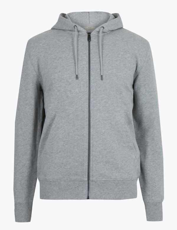 8b5599ee9e Mens Zip Hoodies | Sweatshirts For Men | M&S