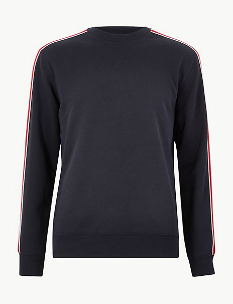 Pure Cotton Crew Neck Sweatshirt