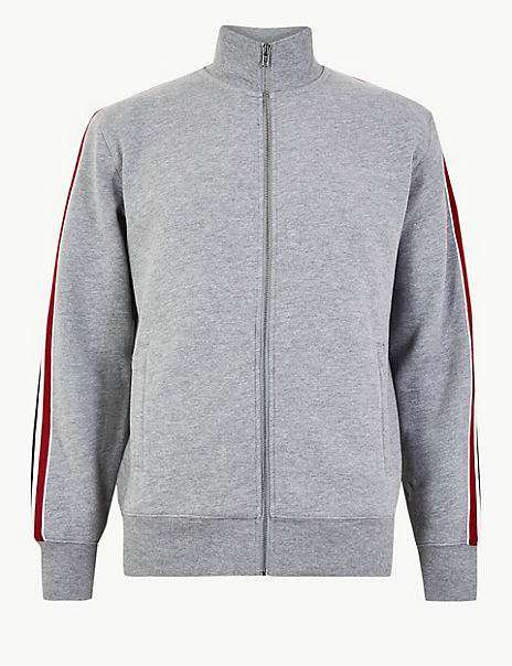 Cotton Rich Funnel Neck Sweatshirt