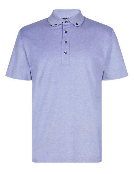 Pure Cotton Mercerised Polo Shirt