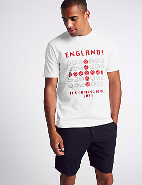 Pure Cotton England Football T-Shirt