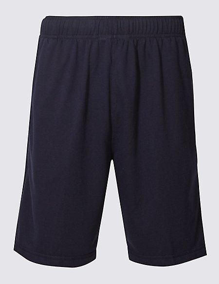 Elastic Waist Sweat Shorts