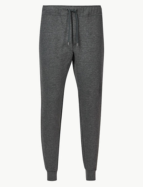 New Cotton Blend Tapered Joggers