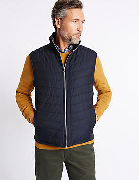 Cotton Rich Funnel Neck Gilet