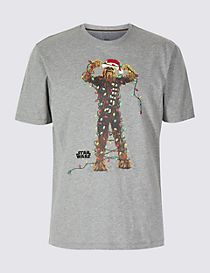 Star Wars™ Pure Cotton Christmas T-Shirt