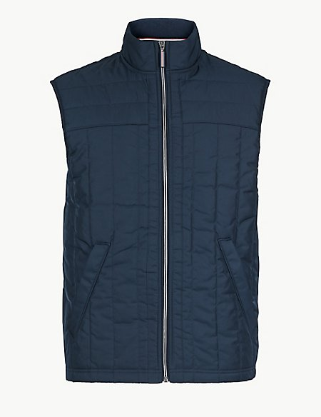 Pure Cotton Funnel Neck Gilet