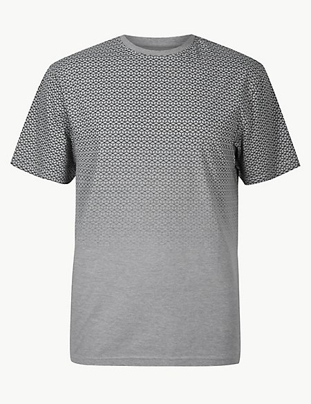Cotton Rich Printed Crew Neck T-Shirt