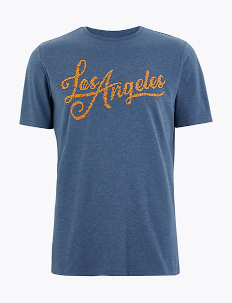 Pure Cotton Los Angeles Slogan T-Shirt