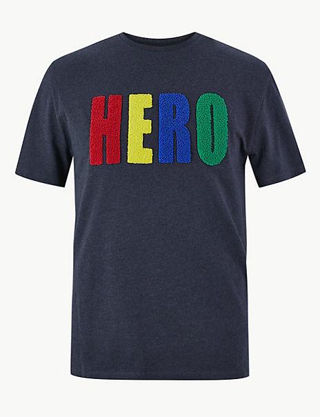 Pure Cotton Hero Print T-Shirt