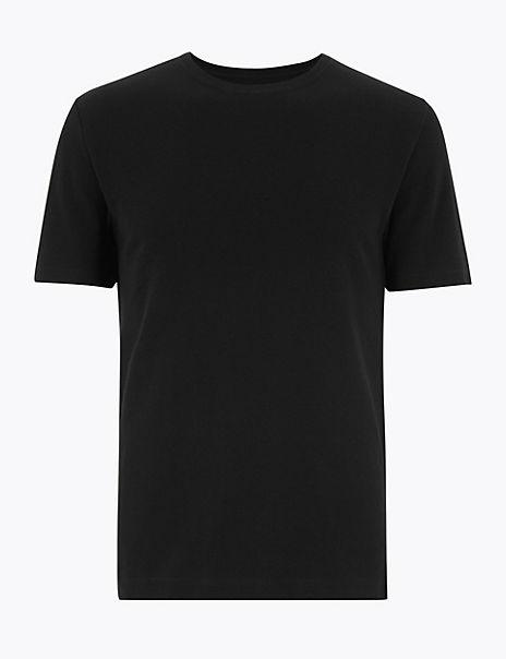 Pure Cotton Textured T-Shirt