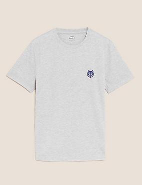 Cotton Wolf Graphic T-Shirt