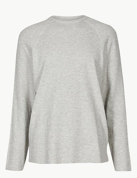 Cotton Rich Long Sleeve T Shirt