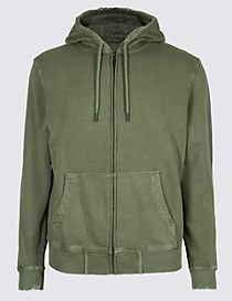Pure Cotton Garment Dye Authentic Hooded Top