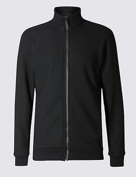 Tailored Fit Textured Fleece Top