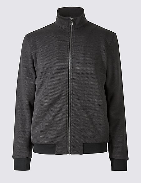 Zipped Through Fleece Jacket