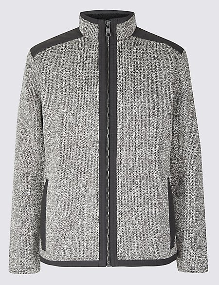 Textured Fleece Jacket