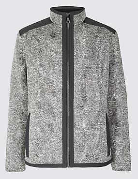 Textured Fleece Jacket