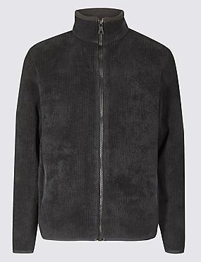 Textured Chenille Fleece Jacket with Stormwear™
